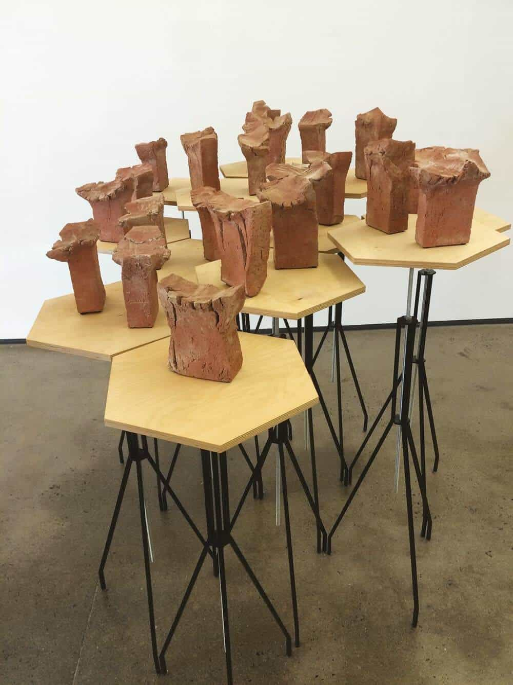 Paul Edmunds, Sames, 2014. Brick clay and hardware, Dimensions variable. Image courtesy of the artist.