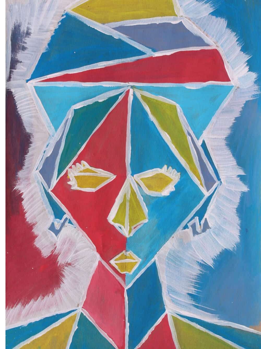 Artwork by Anthony. All artworks inspired by Odili Donald Odita & made by the children that form part of the Lalela Project curriculum. Courtesy of the Lalela Project.