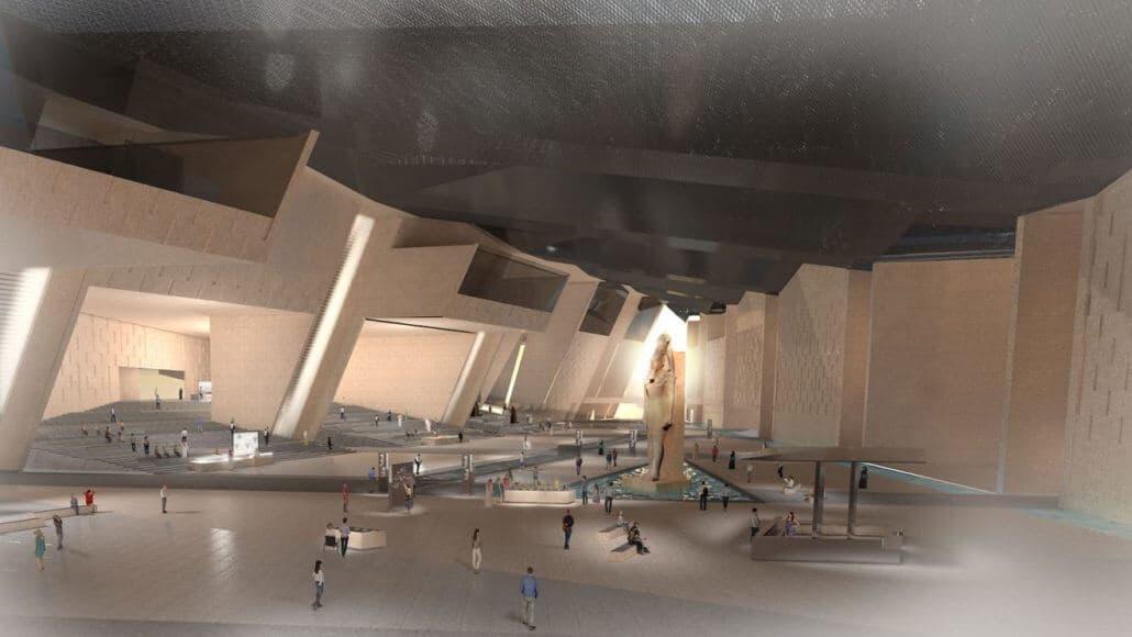 Grand Egyptian Museum, Atrium. Copyright Atelier Brückner.