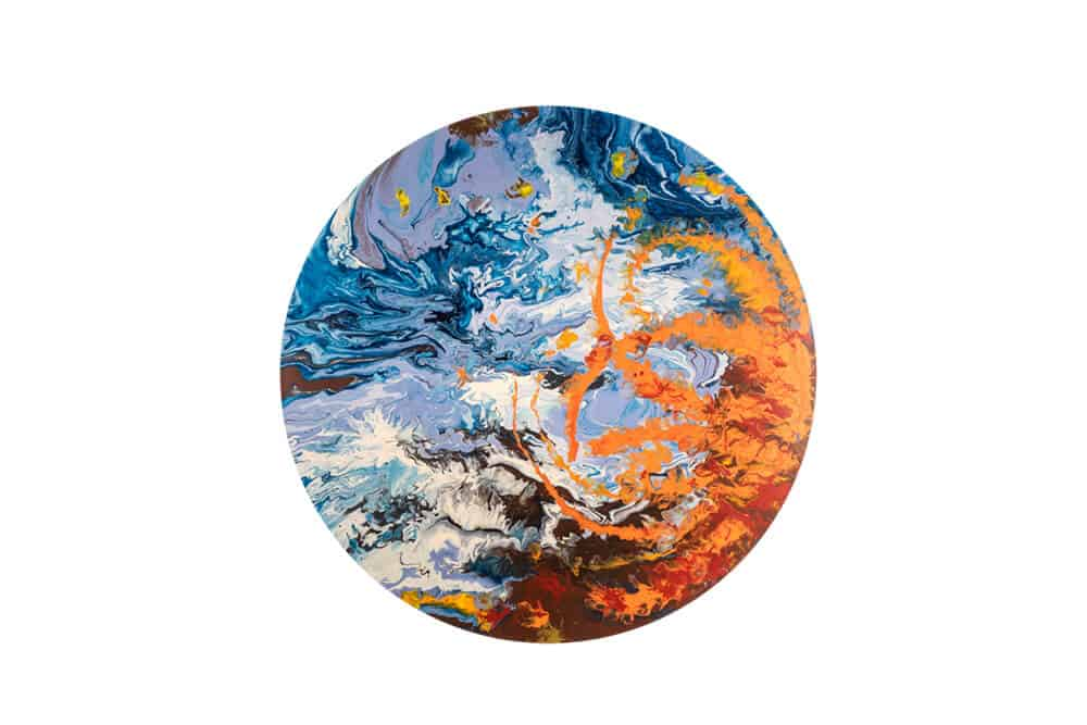 Elsa Duault 1992 INSTANT 120-2, 2018 Acrylic on canvas 120cm Diameter