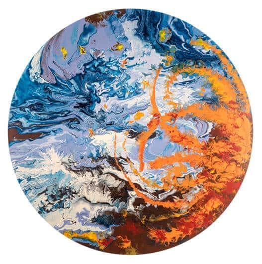 Elsa Duault, INSTANT 120-2, 2018. Acrylic on canvas, 120cm. Courtesy of Berman Contemporary.