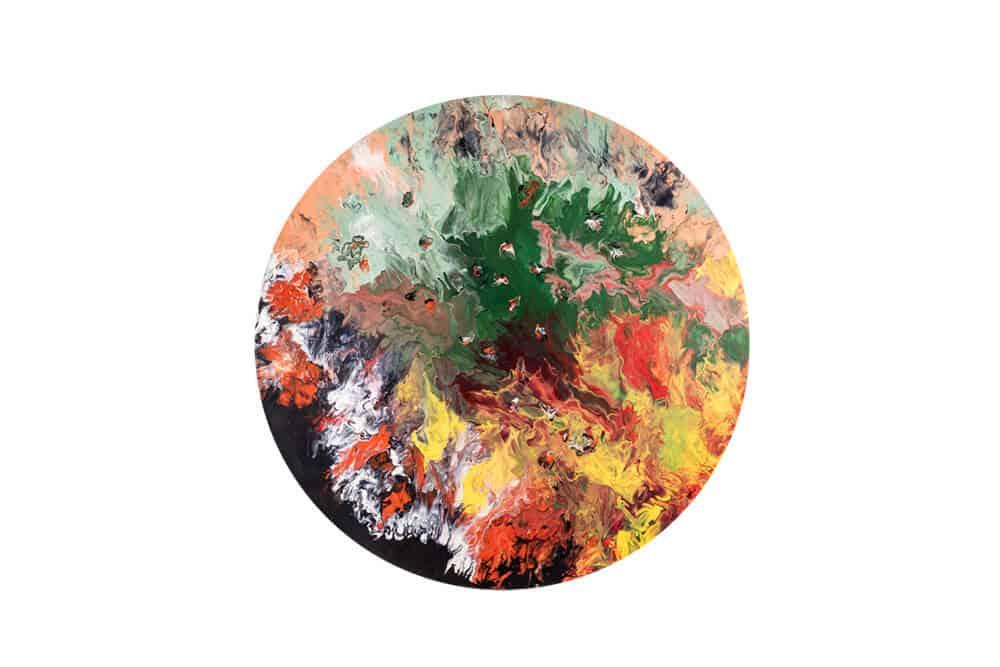 Elsa Duault 1992 INSTANT 120-3, 2018 Acrylic on canvas 120cm Diameter