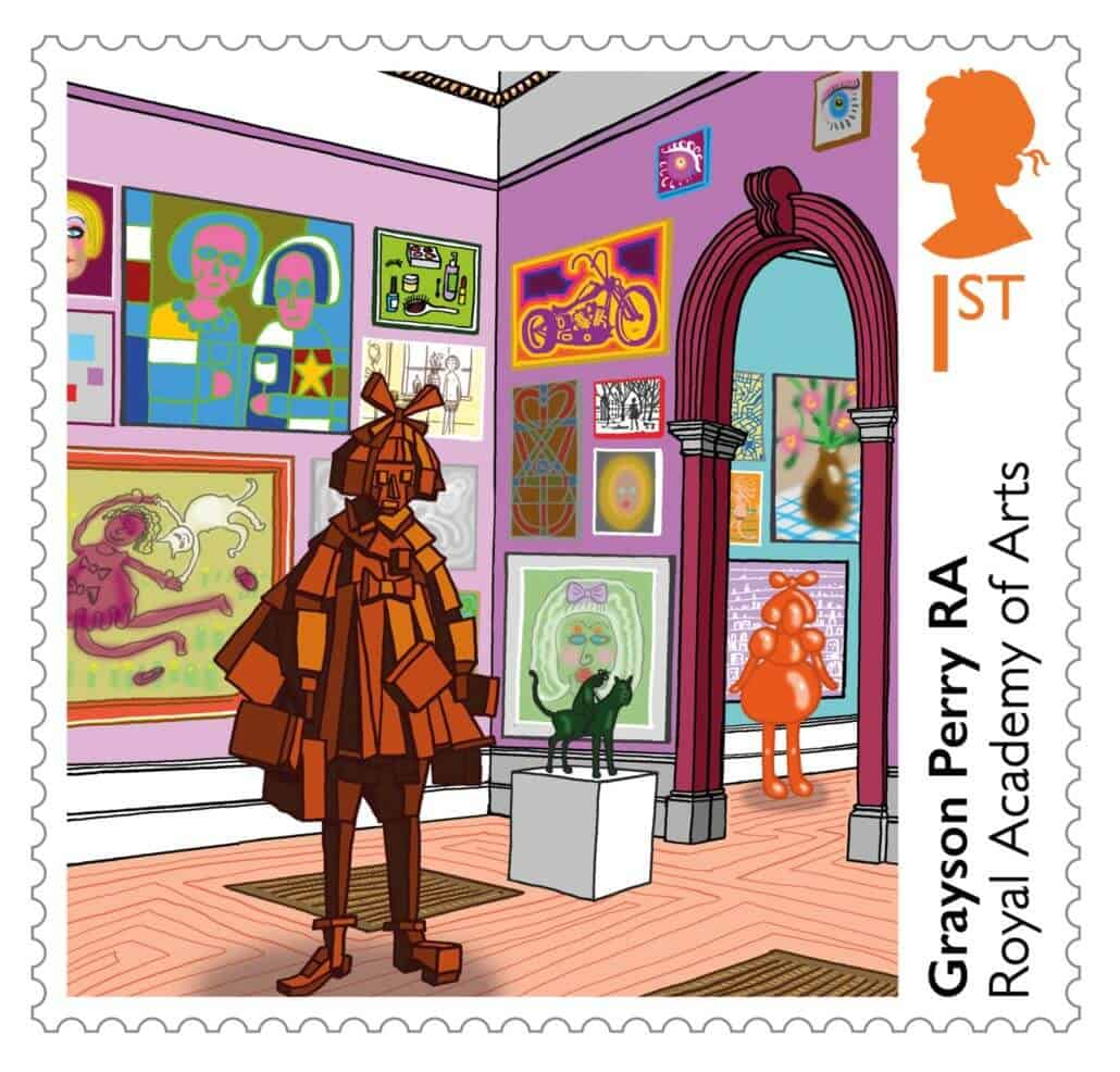 Royal Academy Grayson Perry stamp