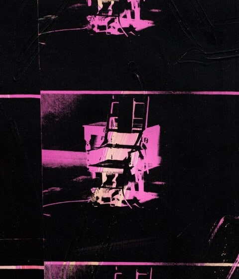 Andy Warhol. 14 Small Electric Chairs. 1980. https://www.mirror.co.uk/news/uk-news/andy-warhol-artwork-made-14-7332929