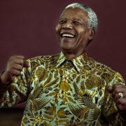 Nelson Mandela Dancing. Soweto 2000