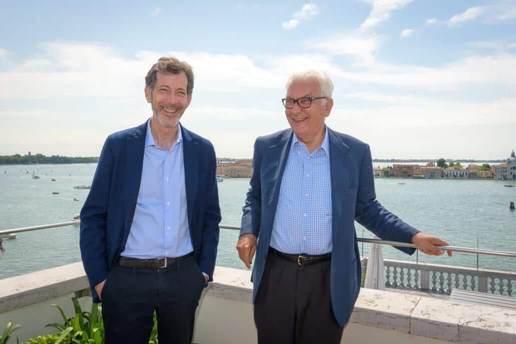 Il curatore della Biennale di Vennice 2019 Ralph Rugoff e il presidente Paolo Baratta. Foto di Andrea Avezzu. Per gentile concessione della Biennale di Venezia