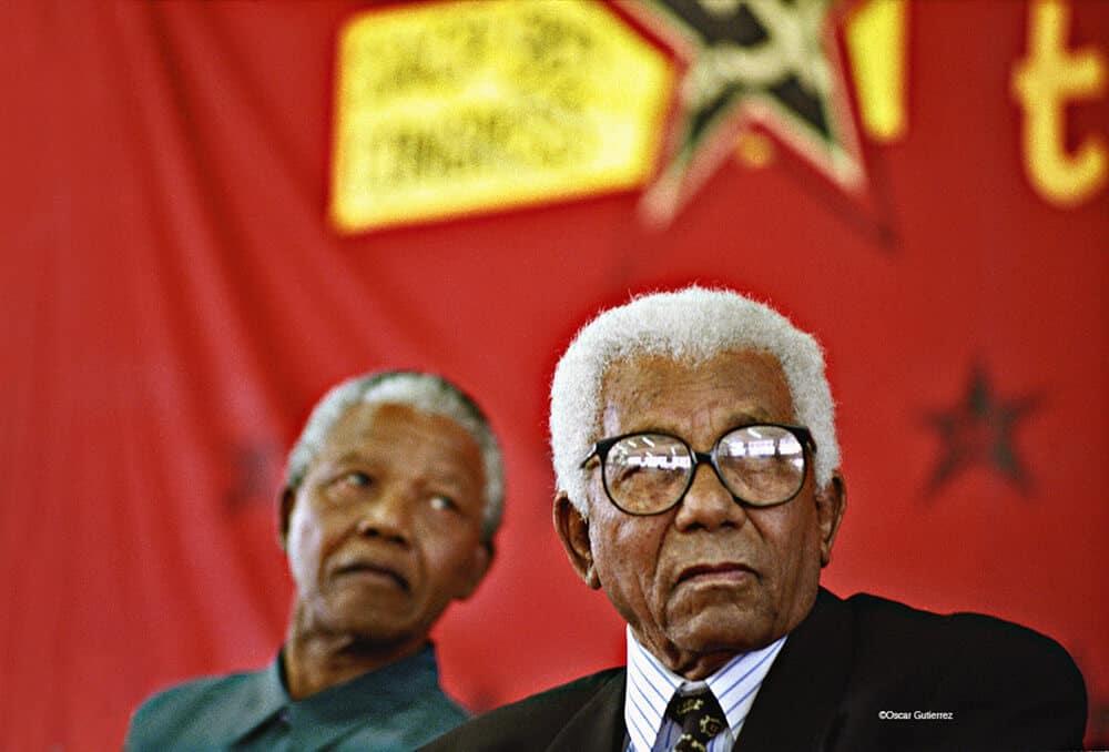 Nelson Mandela, Walter Sisulu SACP-Konferenz