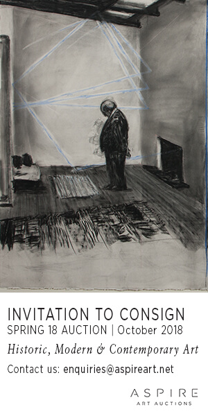 Aspire Art Auctions: Invitation to consign SPRING 18 Auction   October 2018