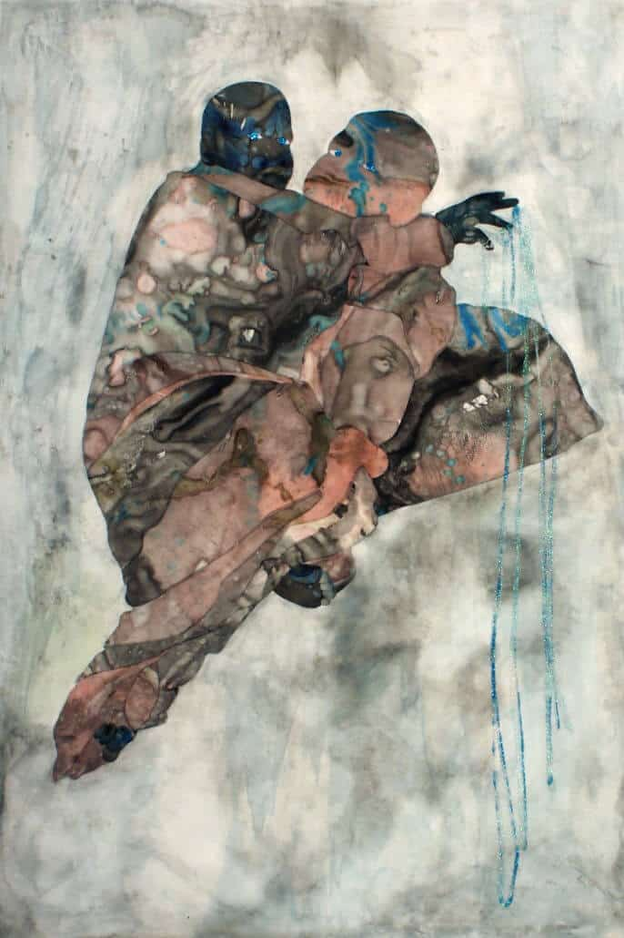 Florine Demosthene, The Last Remnants (Collage on mylar 61x91cm x 24 1/8.2x35 7/8in)
