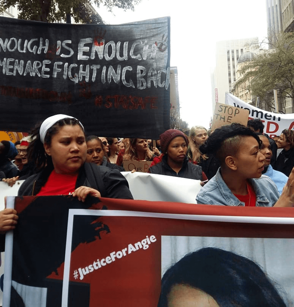 Wxmen against gender-based violence, Cape Town, South Africa, 2018.