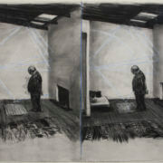 William Kentridge, disegno dallo stereoscopio (doppia pagina, Soho in due stanze), 1999, carboncino e pastello su carta, 120 x 160 cm | Stime: R4 500 000 - 6 000 000