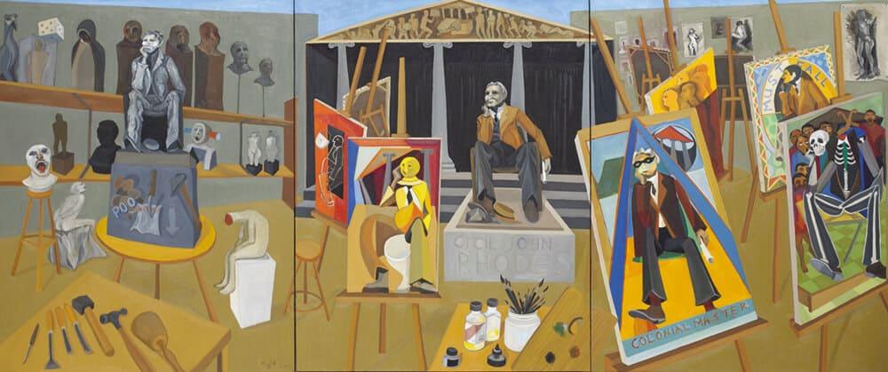 Richard Mudariki, The Model, 2015. Oil on canvas.