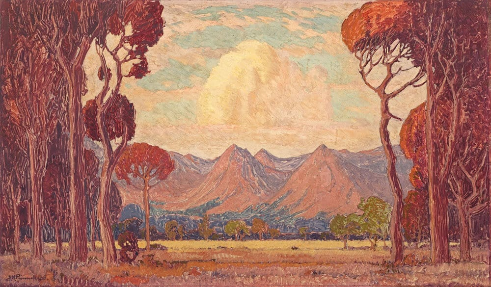 Pierneef | A View of Mountains Through Trees | R1.2 - 1.8 million