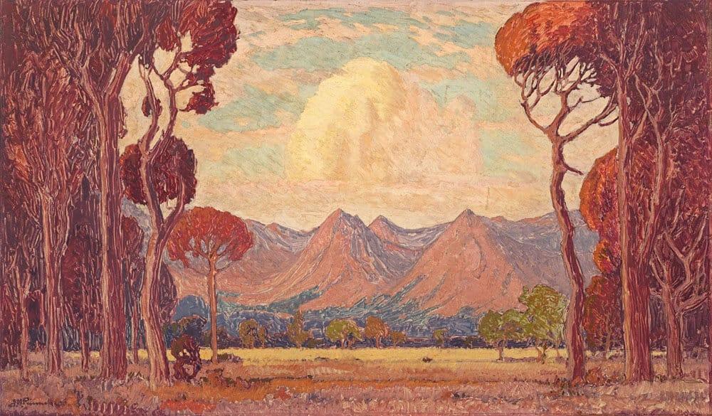 Pierneef | A View of Mountains Through Trees| R1.2 - 1.8 million