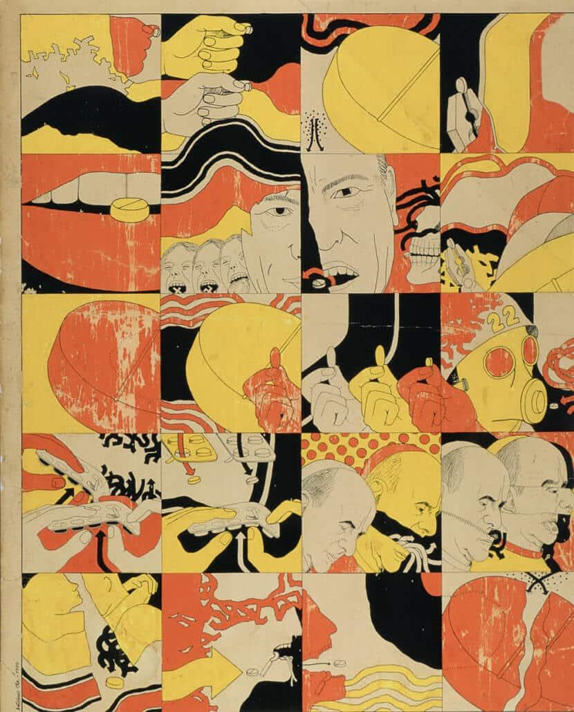 António Ole, Sobre o Consumo da Pílula, 81 x 64,8cm. Courtesy of the artist.