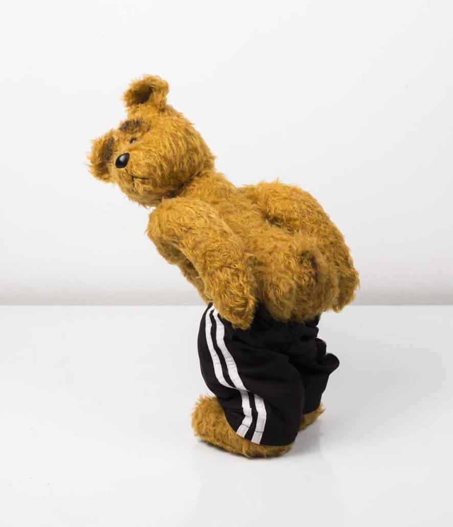 Ed Young, Peanut, 2015. South African mohair traditional teddy bear. Height: 42cm.