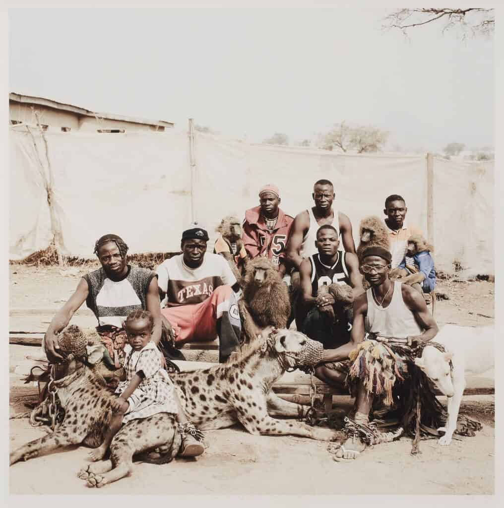 SOUTH AFRICAN AUCTION RECORD  Pieter Hugo, Hyena Men of Abuja, 2005 SOLD FOR R375 540