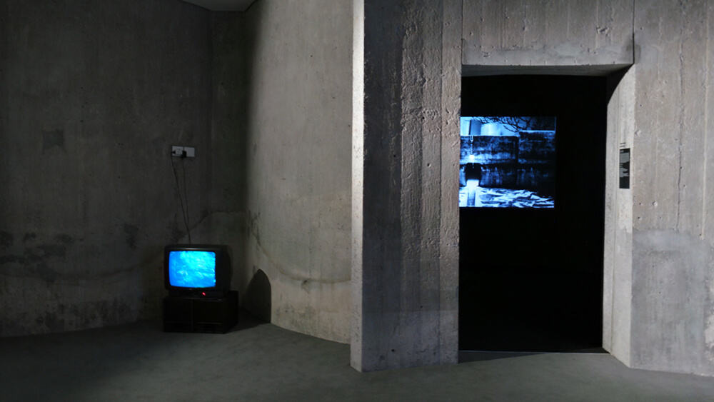 Installation view of Francois Knoetze's work (right) & Emmanuel de Montbron (left)