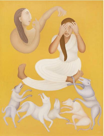 Manjit Bawa (India, 1941-2008), Untitled. Oil on canvas.