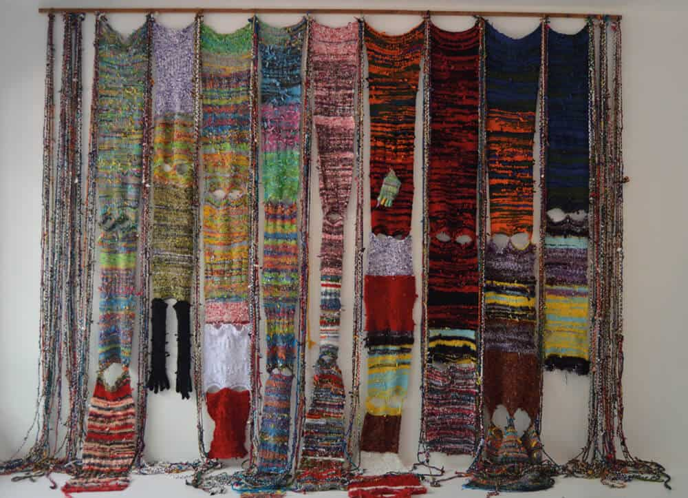 The book of Ndimande, Woven wool and fabric, 575 x 425cm.