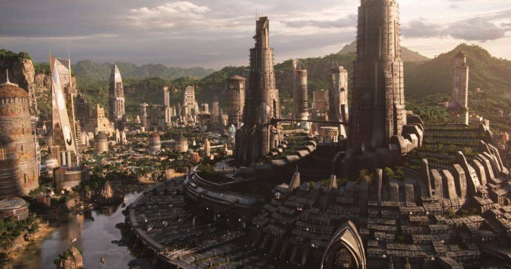 Hannah Beachler set design for Black Panther.