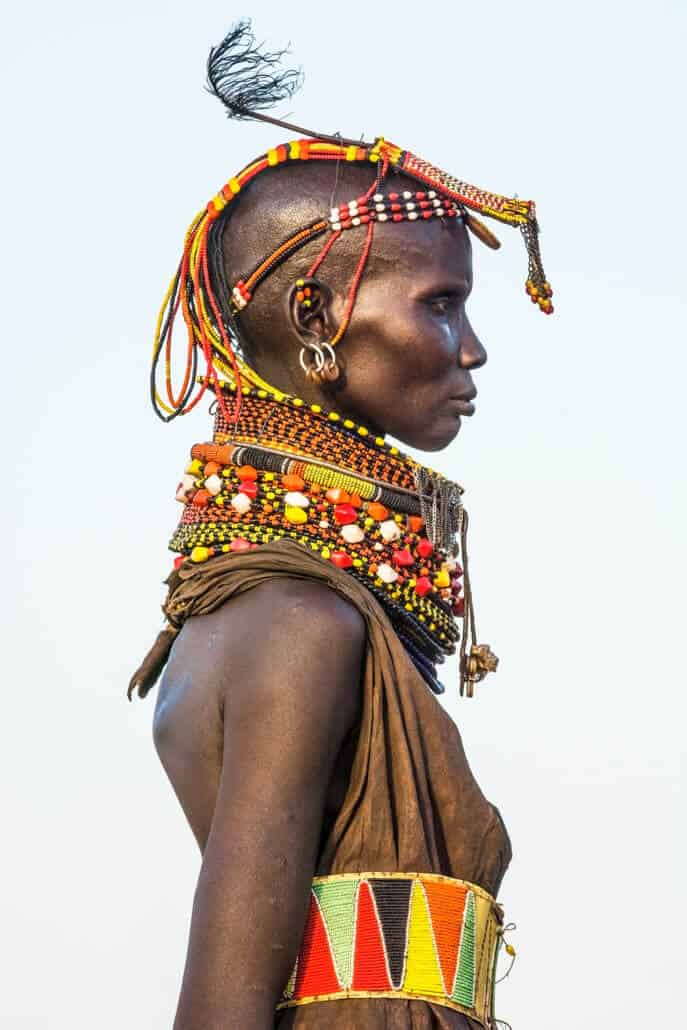 Turkana Female Elder, Kenya, 2014. Copyright: Carol Beckwith and Angela Fisher.