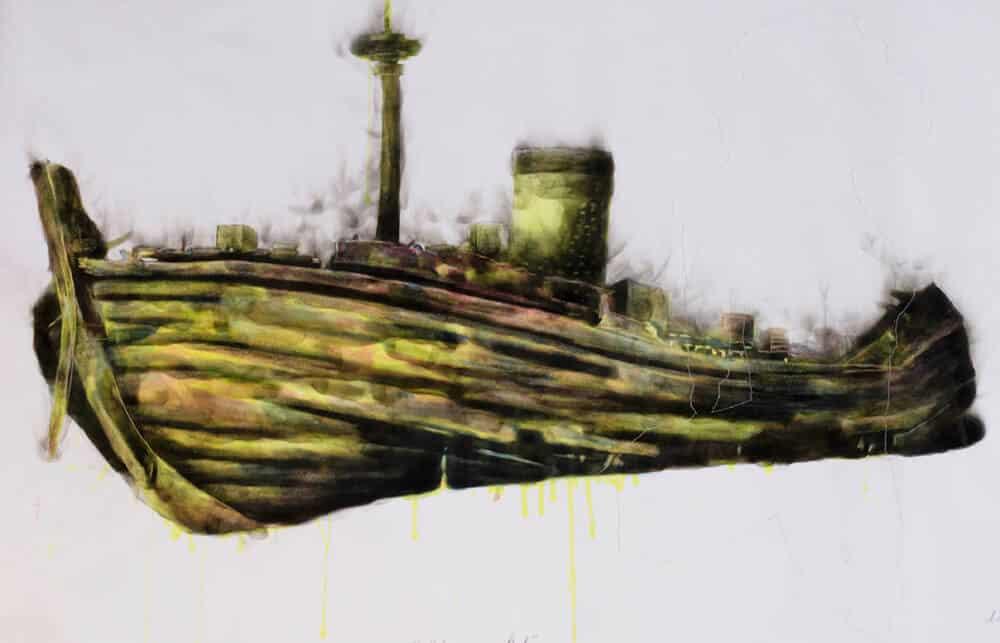 Azael Langa, Shipwrecked, 2019. Courtesy of Julie Miller Investement Art International