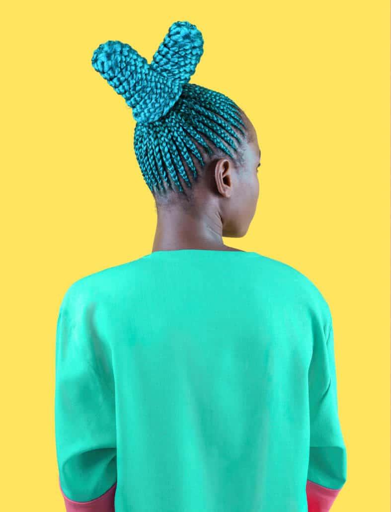 Medina Dugger, Aqua Suku from the series CHROMA, 2017, Fibre Pigment Print on Dibond. Courtesy of the artist & Art Twenty One.