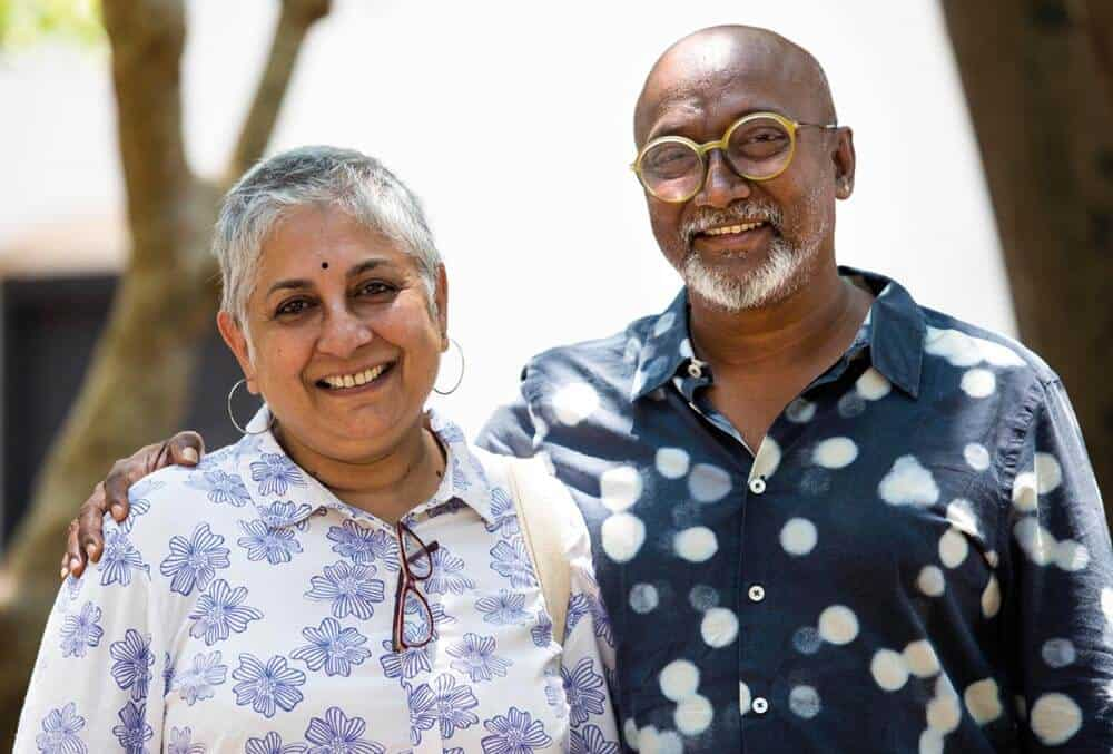 Anita Dube, and Kochi Biennale Foundation president Bose Krishnamachari. Courtesy of Kochi Biennale Foundation.