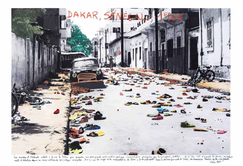 Marcelo Brodsky, Dakar, Senegal 1, 1968, 2018, Druck mit harter Pigmenttinte auf Hahnemühle Papier, 60 x 90 cm. Mit freundlicher Genehmigung des Künstlers & ARTCO Gallery.