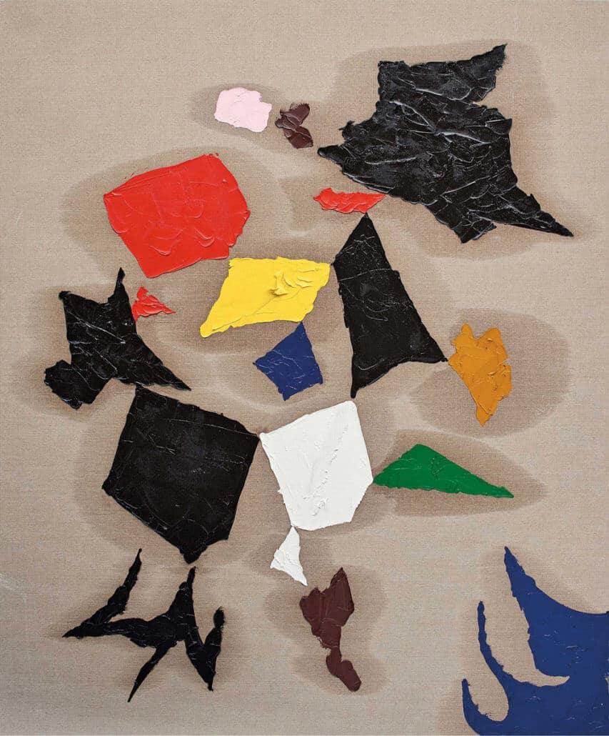 Lot 50. Zander Blom, Untitled 1.627. Oil on linen, 198 x 164cm. R 220 000 - 260 000.