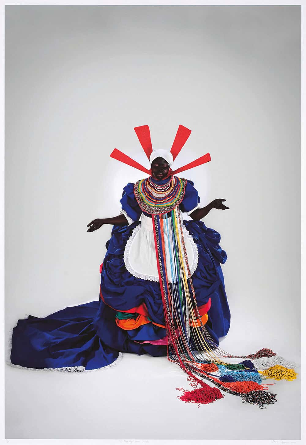 Lot 71. Mary Sibande, Her Majesty, Queen Sophie. Colour digital print. Image size: 104 x 69cm. R 120 000 - 160 000.