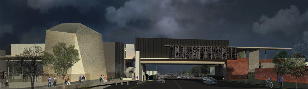 Rendering of the Javett-UP showing the Mapungubwe and Bridge Galleries. Courtesy of Pieter Mathews & Associates.
