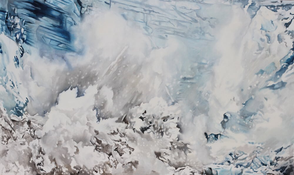 Notes from the Frontier I, 2019, oil on canvas, 120 x 200 cm