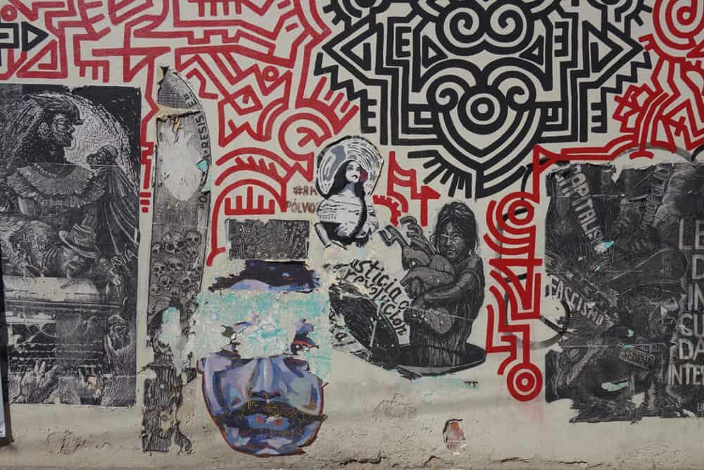 Street graphics in Oaxaca. Photographer: Sean O'Toole.