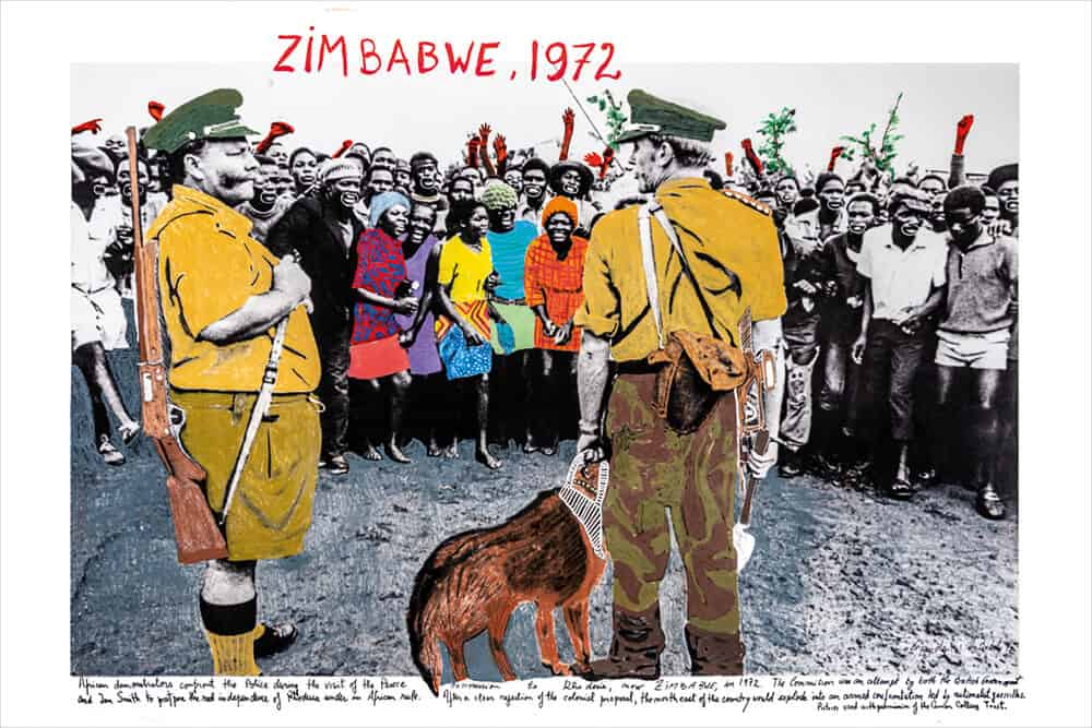 Marcelo Brodsky, Simbabwe, 1972, 2018, Druck mit harter Pigmenttinte auf Hahnemühle Papier, 60 x 90 cm. Mit freundlicher Genehmigung des Künstlers & ARTCO Gallery.