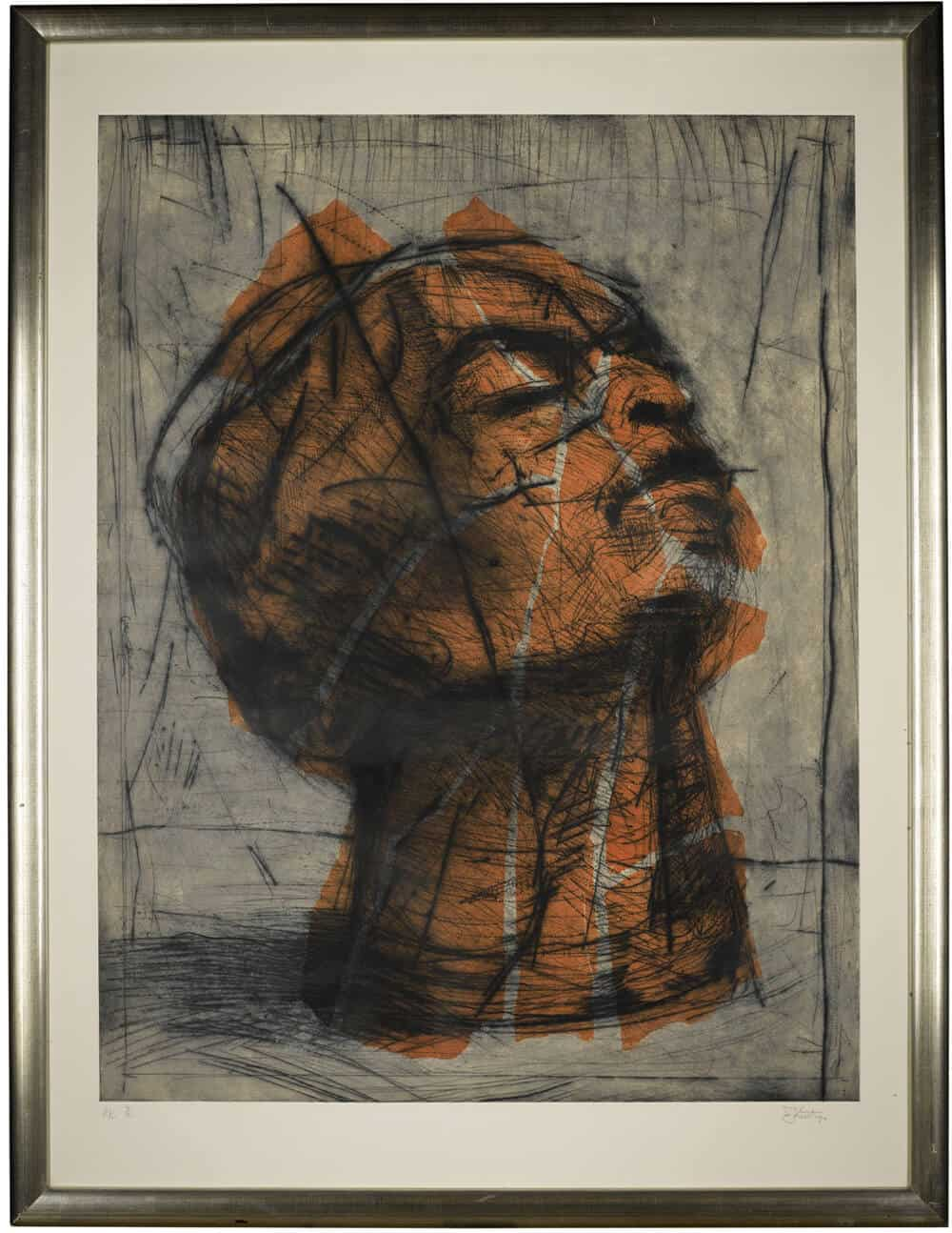 William Kentridge / Head (Orange) / £30,000-50,000 / Copyright: The Artist