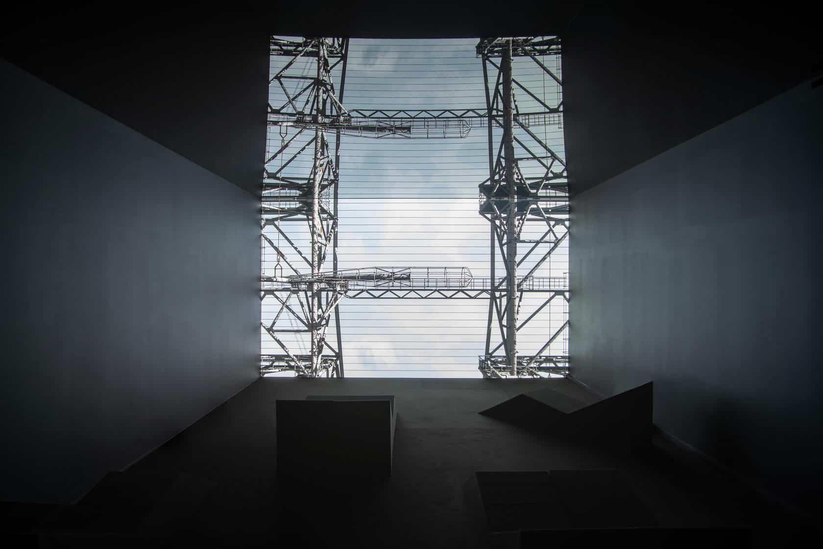 "Emilija Škarnulytė, t 1 ⁄ 2 (2019). Video, 3D remote sensing scanning, 18'00"".  Image courtesy of the artist and PinchukArtCentre © 2019. Photographed by Maksim Belousov"