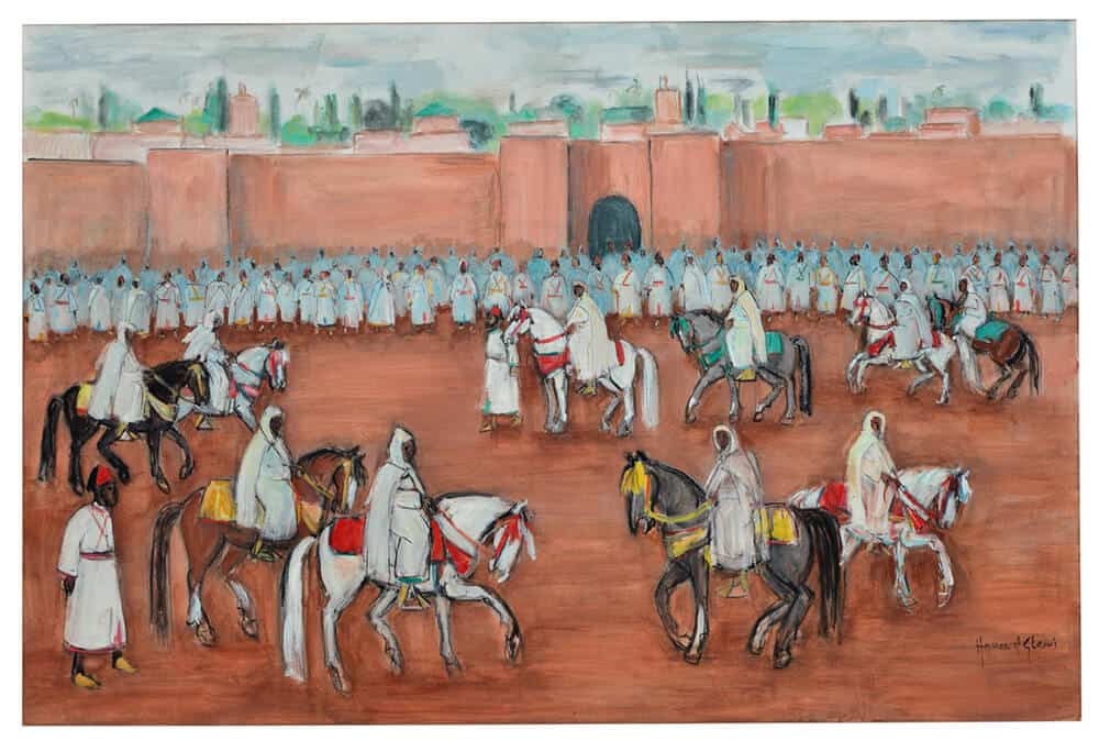 Hassan El Glaoui / La Sortie Du Roi / £80,000-120,000 / Copyright: The Estate of the Artist