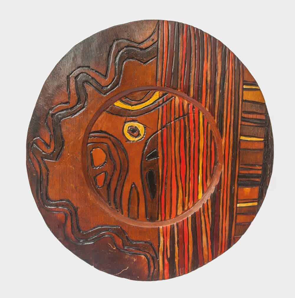 El Anatsui, Crucifix, 1974.