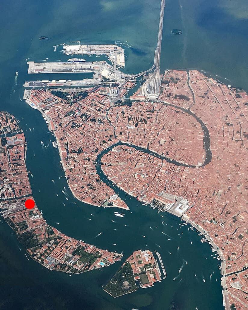 Vista aerea di Venezia, Italia