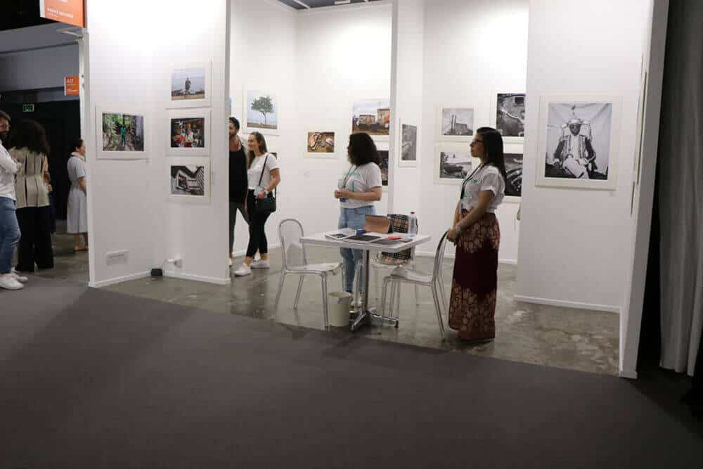 Perve Galerie's booth showcased worked by photographer José Chambel.
