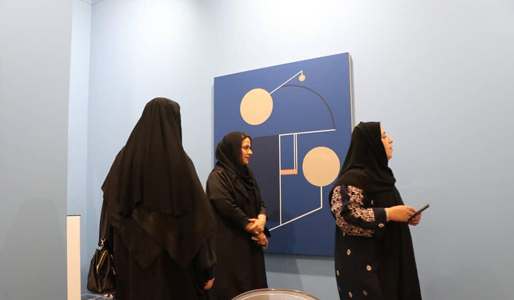 Kristin Hjeledgjerde booth in Art Dubai Contemporary.