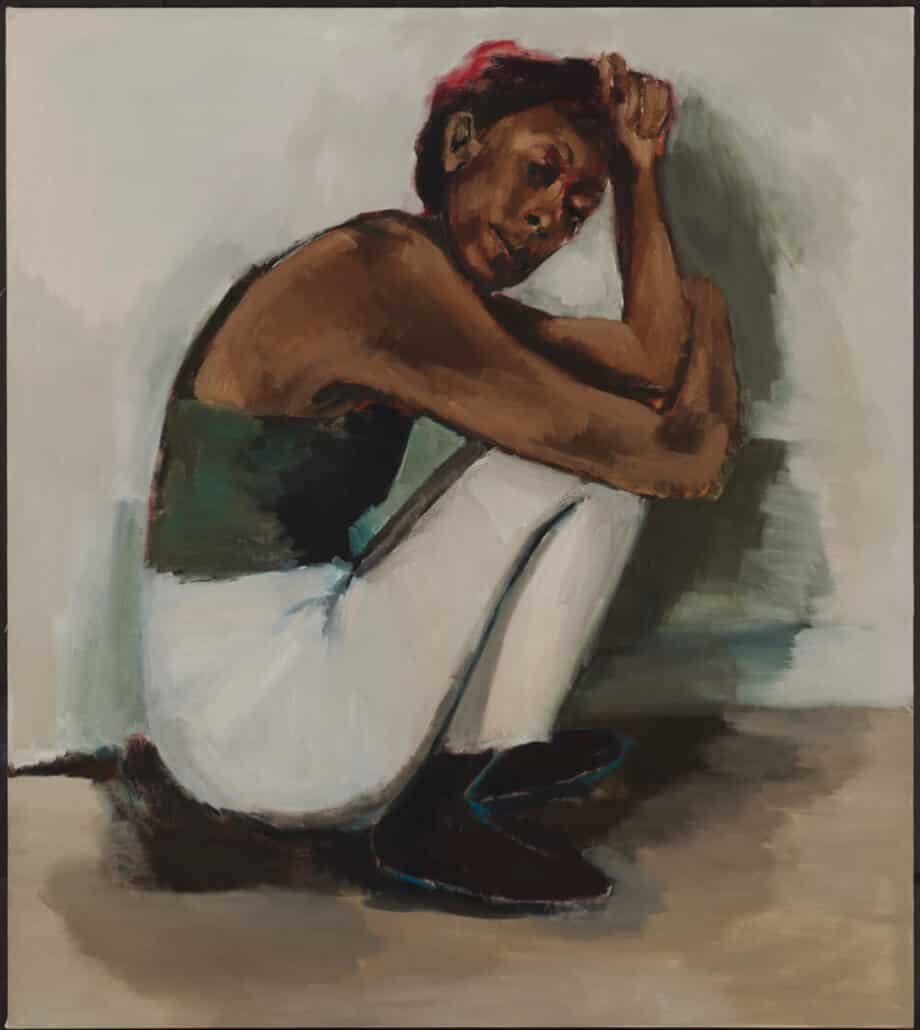 Lynette Yiadom-Boakye. Radical Trysts. 2018. Oil on linen. Courtesy Corvi-Mora, London and Jack Shainman Gallery, New York. Photographer: Marcus Leith.