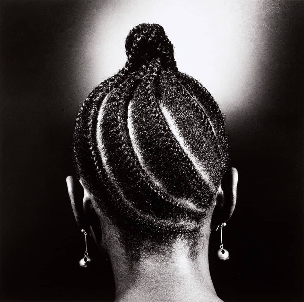 Lot 10: J.D. Okhai Ojeikere, Untitled, Hairstyles Series, C.1980, est. £3,000-5,000
