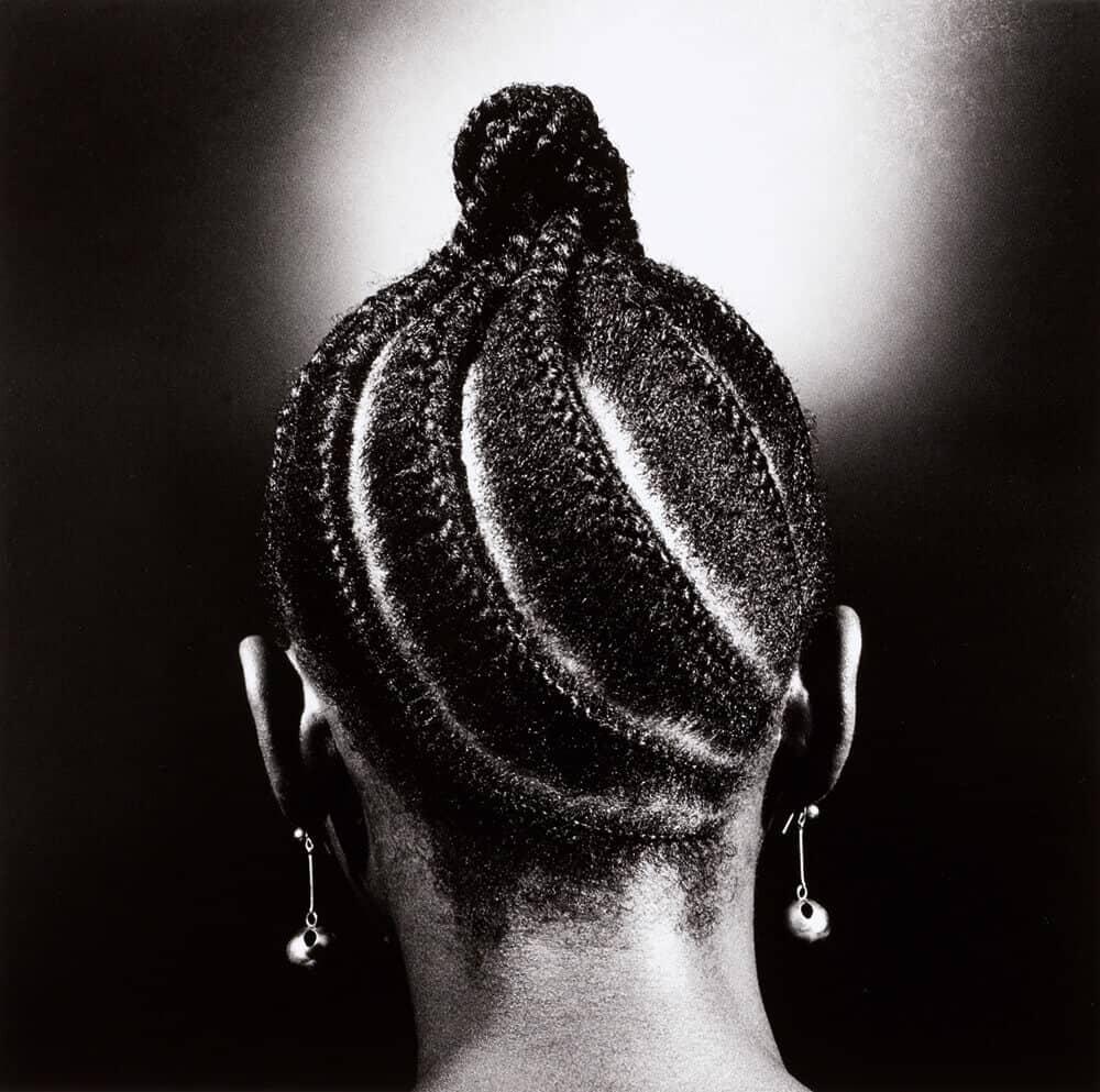 Lot 10: J.D. Okhai Ojeikere, Untitled, Hairstyles Series, C.1980, est. £3,000-5,000