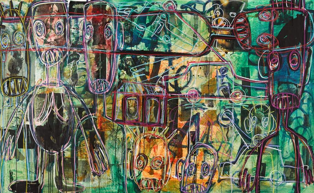 Lot 25: Abdoulaye Aboudia Diarrassouba, Untitled, est. £10,000-15,000
