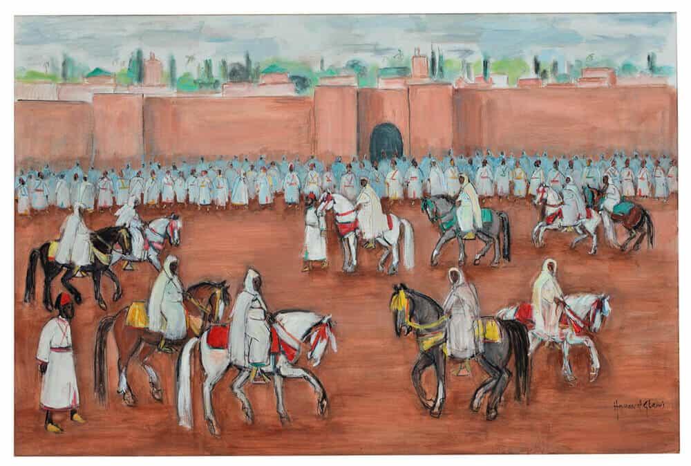 Lot 33: Hassan El Glaoui, La Sortie du Roi, est. £80,000-120,000