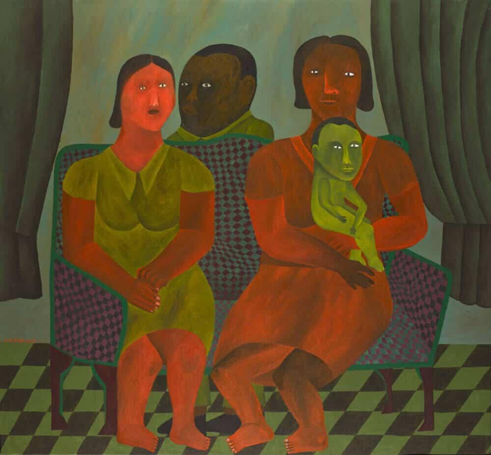 Lot 34: Salah Elmur, The Family Portrait, est. £12,000-18,000