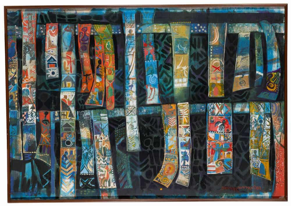 Lot 39: Alexander Skunder Boghossian, Harvest Scrolls, est. £30,000-50,000